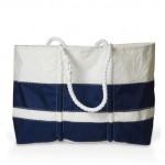 Navy Stripes Sea Bag - Large